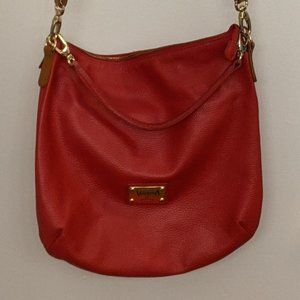Valentina Cherry Red Leather Made in Italy Purse